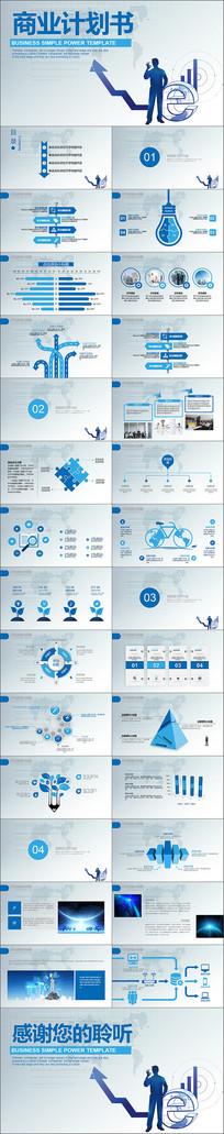 科技感商业计划书PPT模板
