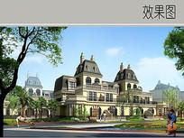 联排别墅建筑透视图