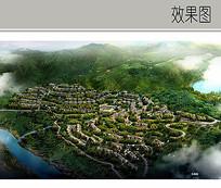 山体住宅景观鸟瞰图