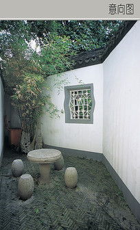 石质室外茶桌椅