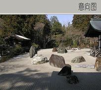 庭院山石块造景
