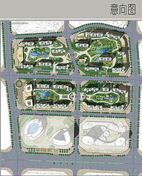 现代住宅景观平面图