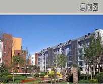 小区建筑景观意向图 JPG
