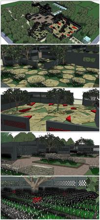 植物园西入口景观SU模型
