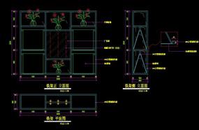 装饰铁架CAD三视图