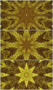 4K金色花纹粒子屏幕背景视频