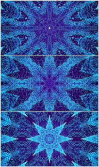 4K蓝色花纹粒子视频素材