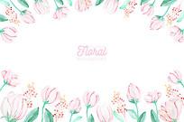 抽纸盒花卉边框素材