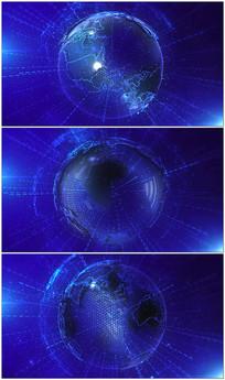蓝色科技地球背景球视频素材