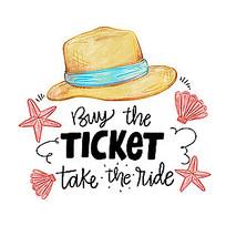 旅行帽子插画