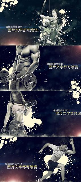 漫画风格健身宣传片AE模板