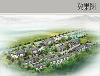 农村住宅景观鸟瞰图