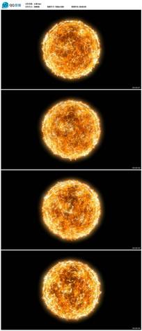 燃烧的太阳高清视频