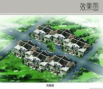 中式民居鸟瞰图