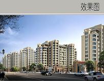 住宅楼沿街景观效果图