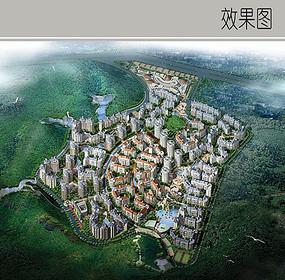住宅区景观规划效果图