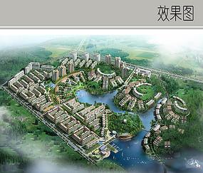 住宅小区景观鸟瞰图