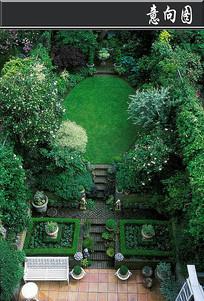 创意植物雕花私家庭院意向图