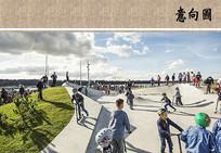 滑板公园景观意向图