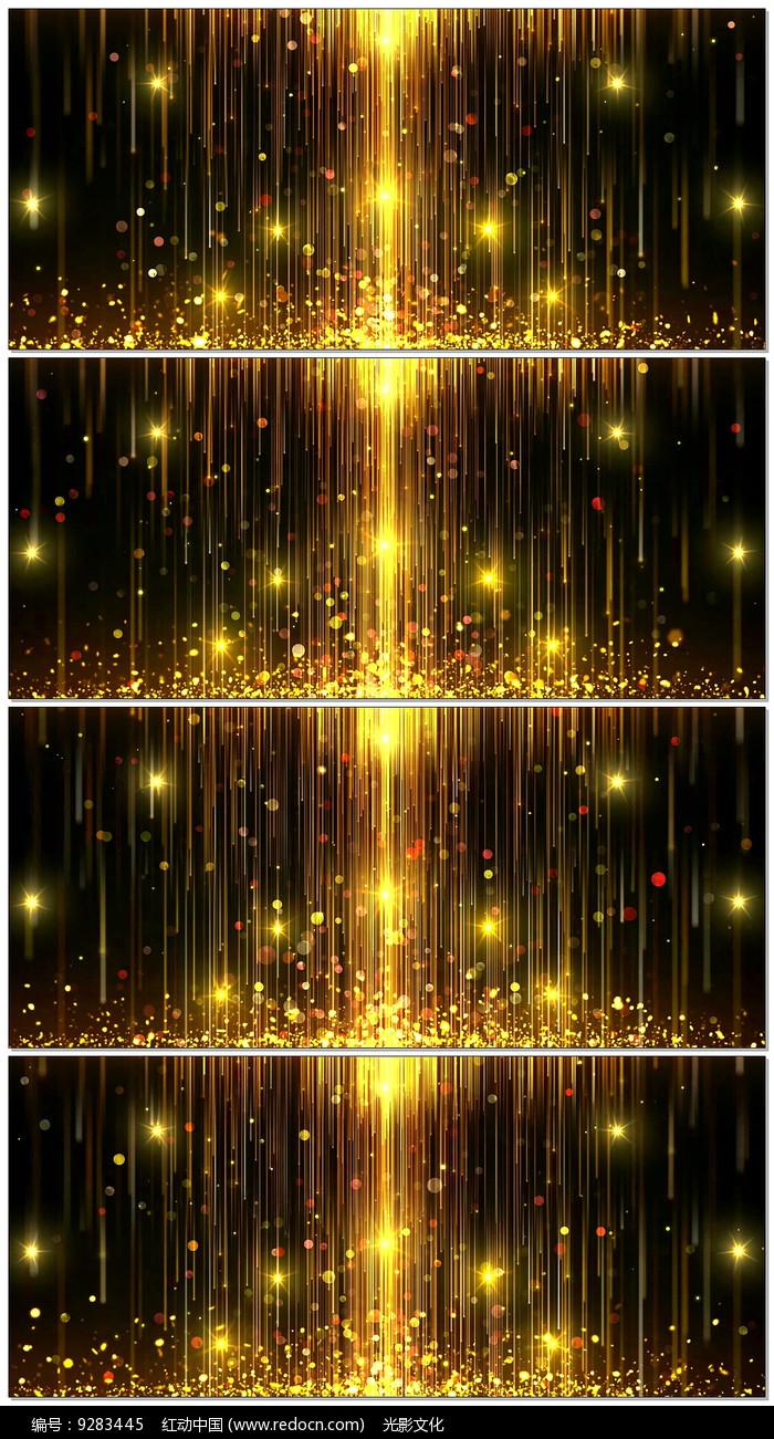 金色星光粒子光线LED背景图片