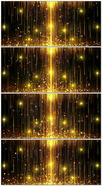 金色星光粒子光线LED背景