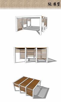 木质镂空廊架