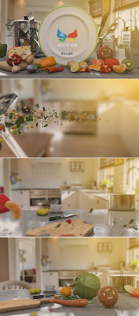 烹饪美食电视节目片头模板