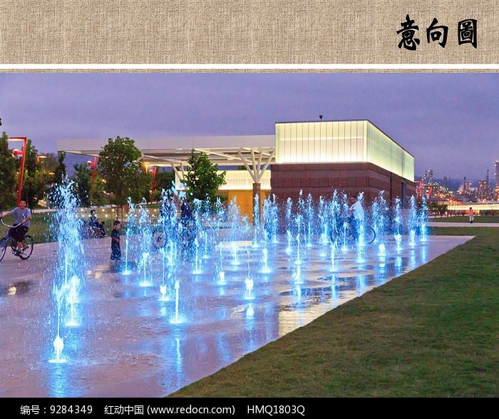 喷泉水景意向图片