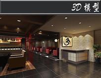 日式料理店3D模型 max