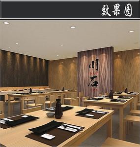 日式料理店内效果图