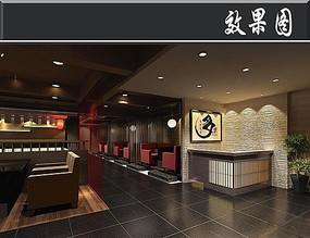日式料理店效果图