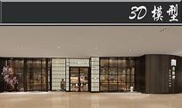 日式料理门店3D模型