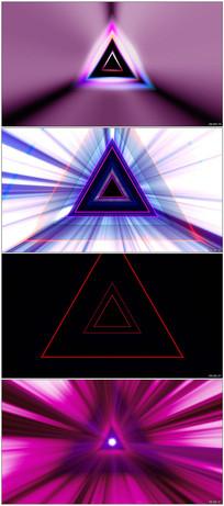 三角形LED音乐舞蹈循环视频