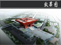 世博会中国馆建筑效果图