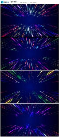 绚丽光线空间穿梭背景视频