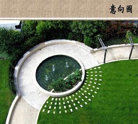 圆形水景意向图 JPG