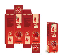 中国风喜酒包装设计