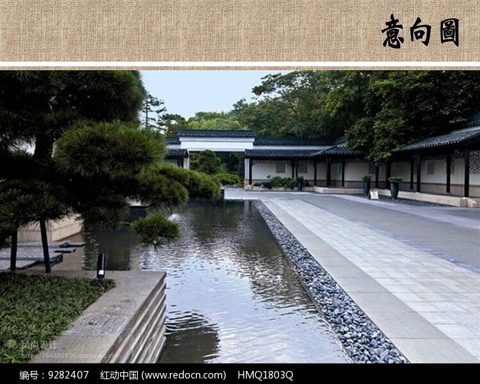 中式庭院水景图片