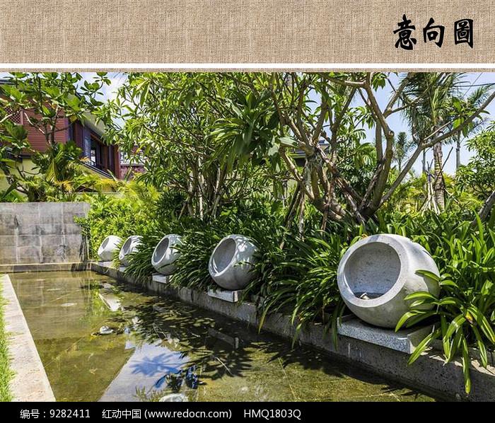 住宅区水景设计图片