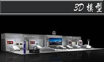 45奔驰汽车展厅3D模型
