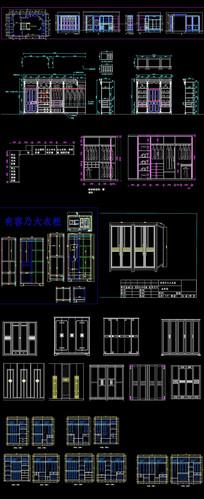 CAD实木衣柜详图 dwg