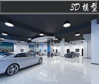 白色奥迪展厅3D模型