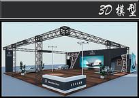 奔驰跑车展厅3D模型