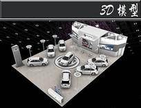 别车汽车展厅3D模型