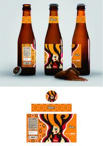 抽象啤酒包装 AI