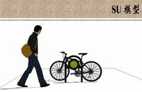 带logo自行车架