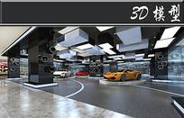 法拉利汽车展厅3D模型