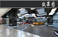 法拉利汽车展厅效果图 JPG