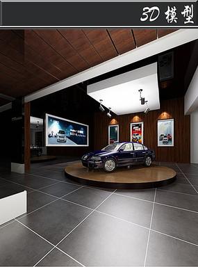 古典汽车4S店3D模型