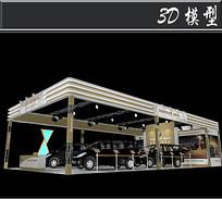 黑色轿车展厅3D模型